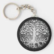 Faith and Hope Tree of Life Customize Keychain (<em>$3.70</em>)