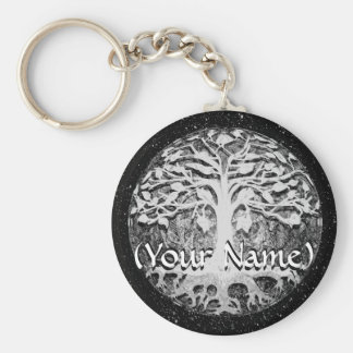 Faith and Hope Tree of Life Customize Keychain