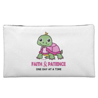 Faith and Patience (Breast Cancer Awareness) Makeup Bag