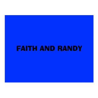 FAITH AND RANDY POSTCARD