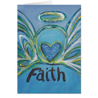 Faith Angel Greeting Card