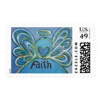 Faith Angel Postage Stamp