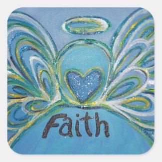 Faith Angel Word Art Custom Decal Stickers