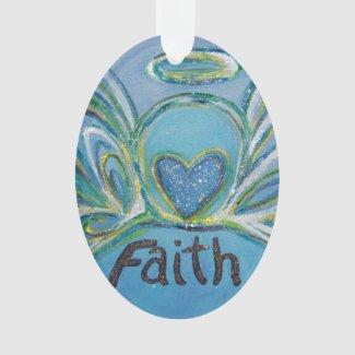Faith Angel Word Art Gift Holiday Ornament