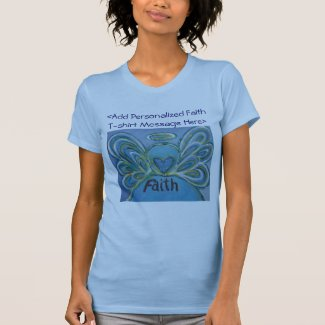 Faith Angel Word Inspirational Customized Shirts