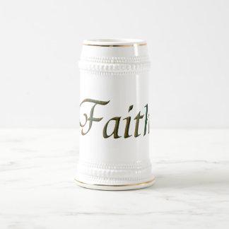 """""""Faith"""" Beer Stein"""