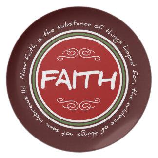 Faith Bible Verse Plate