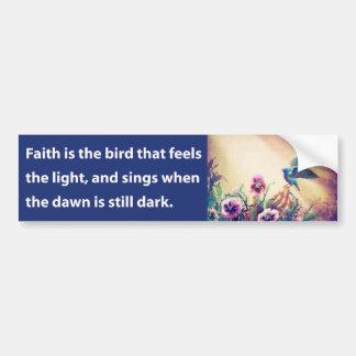 Faith Bird Car Bumper Sticker