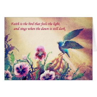 Faith Bird Card