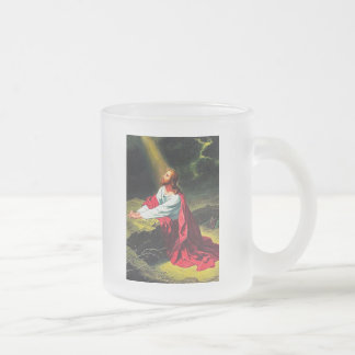 faith blessing inspirational hope Jesus sandstone Frosted Glass Coffee Mug