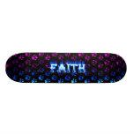 Faith blue fire Skatersollie skateboard
