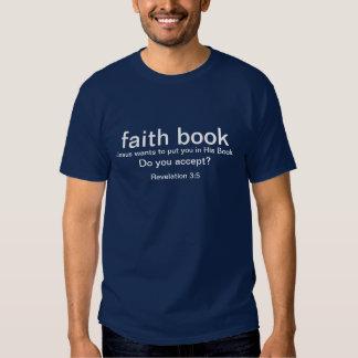 Faith book t shirt