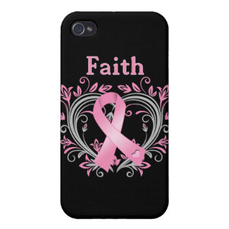 Faith Breast Cancer Awareness Ribbon iPhone 4 Cover