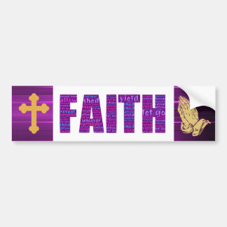 Faith bumper sticker