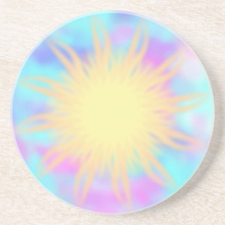 Faith ~ Burst Sandstone Coaster
