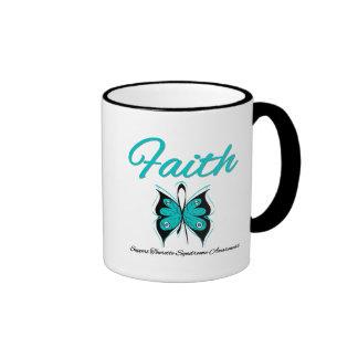 Faith Butterfly Tourette Syndrome Ringer Coffee Mug