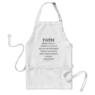 Faith by Ambrose Bierce Adult Apron