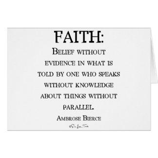 Faith by Ambrose Bierce Greeting Card