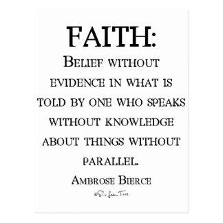 Faith by Ambrose Bierce Postcard