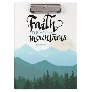 Faith Can Move Mountains acrylic clipboard