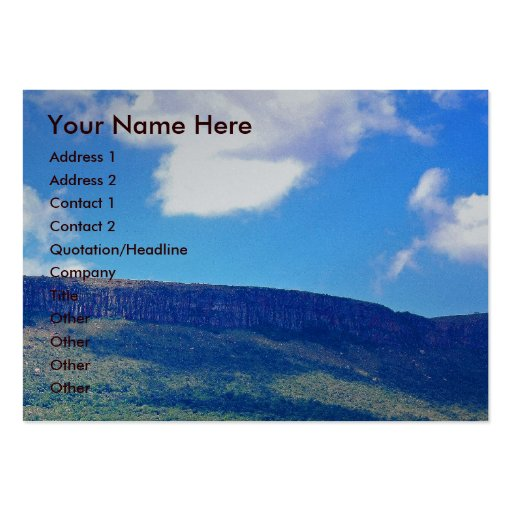 Faith Can Move Mountains Large Business Cards (Pack Of 100)