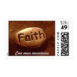 Faith can move mountains postage
