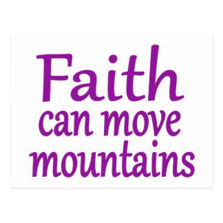Faith can move mountains postcard