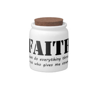 Faith Candy Jar