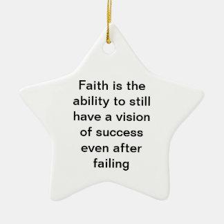 Faith Ceramic Ornament