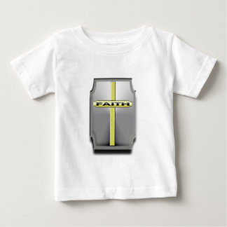 FAITH Christian Cross Silver and Gold SHIELD Baby T-Shirt