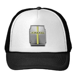 FAITH Christian Cross Silver and Gold SHIELD Hats