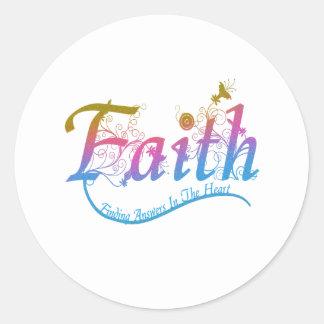 Faith Classic Round Sticker