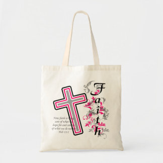 Faith Cross Christian Tote Bag