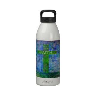 FAITH CROSS Meaningful Art Drinking Bottle