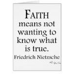 Faith Defined By Nietzsche Card