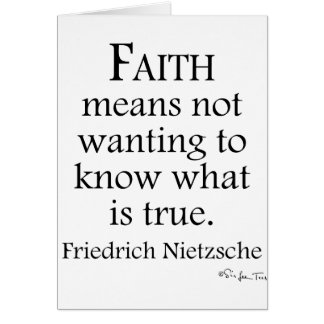 Faith Defined By Nietzsche Card