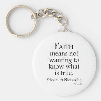Faith Defined By Nietzsche Keychain