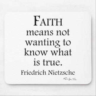 Faith Defined By Nietzsche Mouse Pad