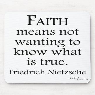 Faith Defined By Nietzsche Mouse Mats