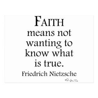 Faith Defined By Nietzsche Postcard