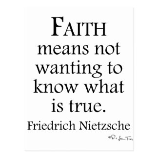 Faith Defined By Nietzsche Postcard