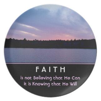 Faith Dinner Plate