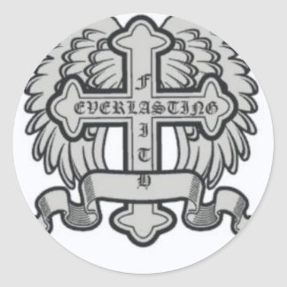 Faith Everlasting Gear Classic Round Sticker
