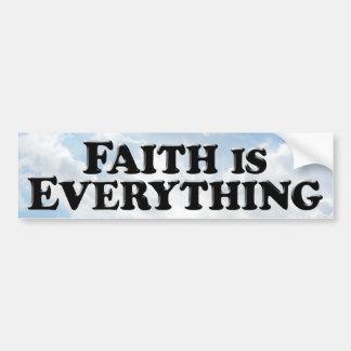 Faith Everything B - Bumper Sticker