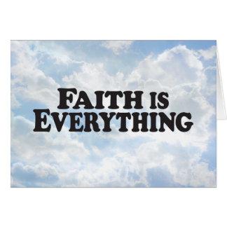 Faith Everything - Horz Greeting Card