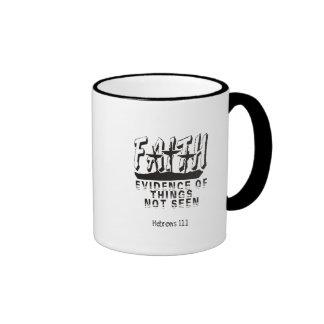 Faith Evidence of things not seen Ringer Mug