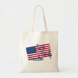 Faith, Family, and Freedom Tote Bag