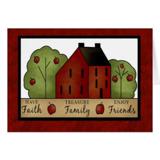 Faith, Family and Friends Blank Card