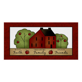 Faith, Family and Friends Wall Art Poster