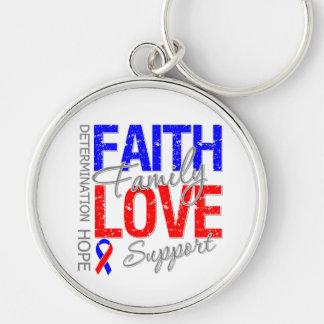 Faith Family Collage Pulmonary Fibrosis Keychain